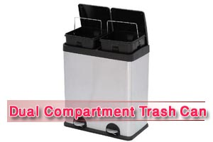 Best Dual Compartment Trash Can [Reviews in 2020]
