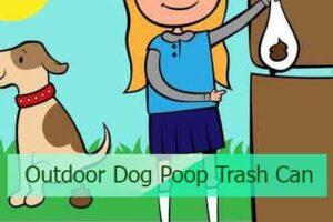 Outdoor Dog Poop Trash Can