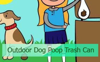 Outdoor Dog Poop Trash Can