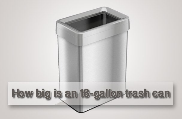 18-gallon trash can